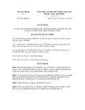 Quyết định số 2652/QĐ-BTC