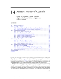 CYANIDE in WATER and SOIL: Chemistry, Risk, and Management - Chapter 14