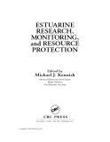 Estuarine Research, Monitoring, and Resource Protection - Chapter 1