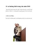 11 xu hướng thời trang cho năm 2010