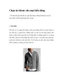 Chọn áo khoác cho mọi kiểu dáng