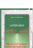 Hướng dẫn luyện dịch Việt - Anh