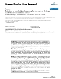 """báo cáo khoa học: """" Initiation to heroin injecting among heroin users in Sydney, Australia: cross sectional survey"""""""