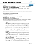 """báo cáo khoa học: """" Opiate users' knowledge about overdose prevention and naloxone in New York City: a focus group study"""""""
