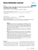 """báo cáo khoa học: """"  Smoking marijuana in public: the spatial and policy shift in New York City arrests, 1992–2003"""""""