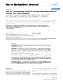 "báo cáo khoa học: "" High HCV seroprevalence and HIV drug use risk behaviors among injection drug users in Pakistan"""