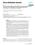"""báo cáo khoa học: """" A review of the evidence for the effectiveness of primary prevention interventions for Hepatitis C among injecting drug users"""""""