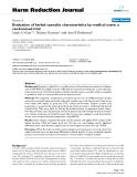 "báo cáo khoa học: "" Evaluation of herbal cannabis characteristics by medical users: a randomized trial"""