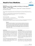 "báo cáo khoa học: "" Ewing sarcoma of the mandible mimicking an odontogenic abscess – a case report"""