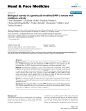 """báo cáo khoa học: """"  Biological activity of a genetically modified BMP-2 variant with inhibitory activity"""""""