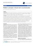 "báo cáo khoa học: ""  Modern concepts in facial nerve reconstruction"""