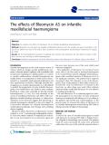 """báo cáo khoa học: """"  The effects of Bleomycin A5 on infantile maxillofacial haemangioma"""""""