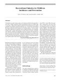 Thương tích ở trẻ em: Tỷ lệ mắc và Phòng ngừa