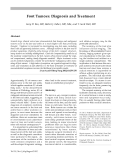 Chân khối u: Chẩn đoán và điều trị