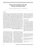 Viêm xương khớp : nguyên nhân và dịch tễ