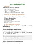 Bài 7: KẾT NỐI DATABASE.1. ADO là gì?ADO Có thể dung để truy cập DL từ trang web.
