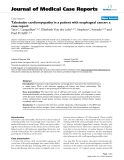 """Báo cáo y học: """" Takotsubo cardiomyopathy in a patient with esophageal cancer: a case report"""""""