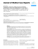 """Báo cáo y học: """" Anaplastic carcinoma of the pancreas producing granulocyte-colony stimulating factor: a case report"""""""