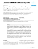 """Báo cáo y học: """"A rare case of term viable secondary abdominal pregnancy following rupture of a rudimentary horn: a case report"""""""