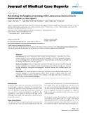 "Báo cáo y học: "" Ascending cholangitis presenting with Lactococcus lactis cremoris bacteraemia: a case report"""