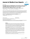 """Báo cáo y học: """"Successful renal re-transplantation in the presence of pre-existing anti-DQ5 antibodies when there was zero mismatch at class I human leukocyte antigen A, B, & C: a case report"""""""
