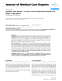 """Báo cáo y học: """"Amoebic liver abscess – a cause of acute respiratory distress in an infant: a case report"""""""