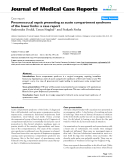 """Báo cáo y học: """"Pneumococcal sepsis presenting as acute compartment syndrome of the lower limbs: a case report"""""""