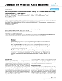 "Báo cáo y học: "" Occlusion of the common femoral artery by cement after total hip arthroplasty: a case report"""