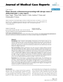"""Báo cáo y học: """"Giant thoracic schwannoma presenting with abrupt onset of abdominal pain: a case report"""""""
