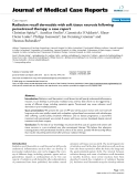 """Báo cáo y học: """"Radiation recall dermatitis with soft tissue necrosis following pemetrexed therapy: a case report"""""""