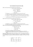 Bài tập môn quy hoạch tuyến tính