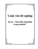 Luận văn tốt nghiệp : Tìm hiểu Simulink trong matlab