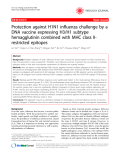 """Báo cáo y học: """" Protection against H1N1 influenza challenge by a DNA vaccine expressing H3/H1 subtype hemagglutinin combined with MHC class IIrestricted epitopes"""""""