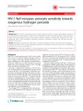 "Báo cáo y học: ""HIV-1 Nef increases astrocyte sensitivity towards exogenous hydrogen peroxide"""