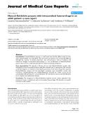 "Báo cáo y học: "" Henoch-Schönlein purpura with intracerebral haemorrhage in an adult patient: a case report"""