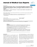 """Báo cáo y học: """"Lethal pneumatosis coli in a 12-month-old child caused by acute intestinal gas gangrene after prolonged artificial nutrition: a case report"""""""