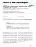 "Báo cáo y học: ""Intra-articular knee haemangioma originating from the anterior cruciate ligament: a case report"""
