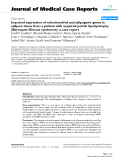 """Báo cáo y học: """"Impaired expression of mitochondrial and adipogenic genes in adipose tissue from a patient with acquired partial lipodystrophy (Barraquer-Simons syndrome): a case report"""""""