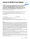 """Báo cáo y học: """" A patient with glycogen storage disease type Ib presenting with acute myeloid leukemia (AML) bearing monosomy 7 and translocation t(3;8)(q26;q24) after 14 years of treatment with granulocyte colony-stimulating factor (G-CSF): A case report"""""""
