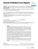"Báo cáo y học: ""Gigantic hepatic amebic abscess presenting as acute abdomen: a case report"""