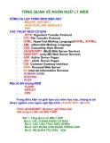 TỔNG QUAN VỀ NGÔN NGỮ LT WEB CÔNG CỤ LẬP TRÌNH WEB HIỆN NAY MS(ASP, ASP.NET) JAVA SUN