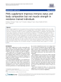 """Báo cáo y học: """" PAKs supplement improves immune status and body composition but not muscle strength in resistance trained individuals"""""""