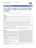 """Báo cáo y học: """" Use of dietary supplements in Olympic athletes is decreasing: a follow-up study between 2002 and 2009"""""""