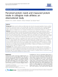 """Báo cáo y học: """"  Perceived protein needs and measured protein intake in collegiate male athletes: an observational study"""""""
