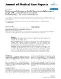 """Báo cáo y học: """" Environmental influences on familial discordance of phenotype in people with homocystinuria: a case report"""""""