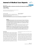 """Báo cáo y học: """"  Atopic dermatitis, cutaneous steroids and cataracts in children: two case reports"""""""