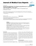 "Báo cáo y học: ""Life-threatening biopsy of an iliopsoas pseudotumour in a patient with haemophilia: a case report"""