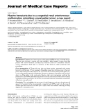 """Báo cáo y học: """" Massive hematuria due to a congenital renal arteriovenous malformation mimicking a renal pelvis tumor: a case report"""""""
