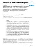 """Báo cáo y học: """" Diabetic control and atypical antipsychotics: a case report"""""""
