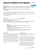 "Báo cáo y học: ""Wandering permanent pacemaker generators in children: a case series"""